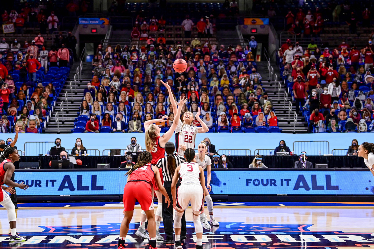 Tip off at the women's national championship game