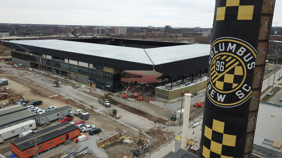 The Columbus Crew's new stadium is under construction