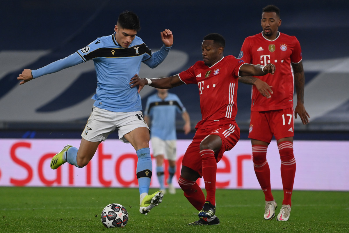 The forward was on target for Lazio in their 4-1 defeat to Bayern Munich