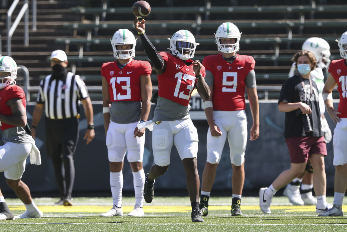 Top Performers From Oregon Spring Football Game