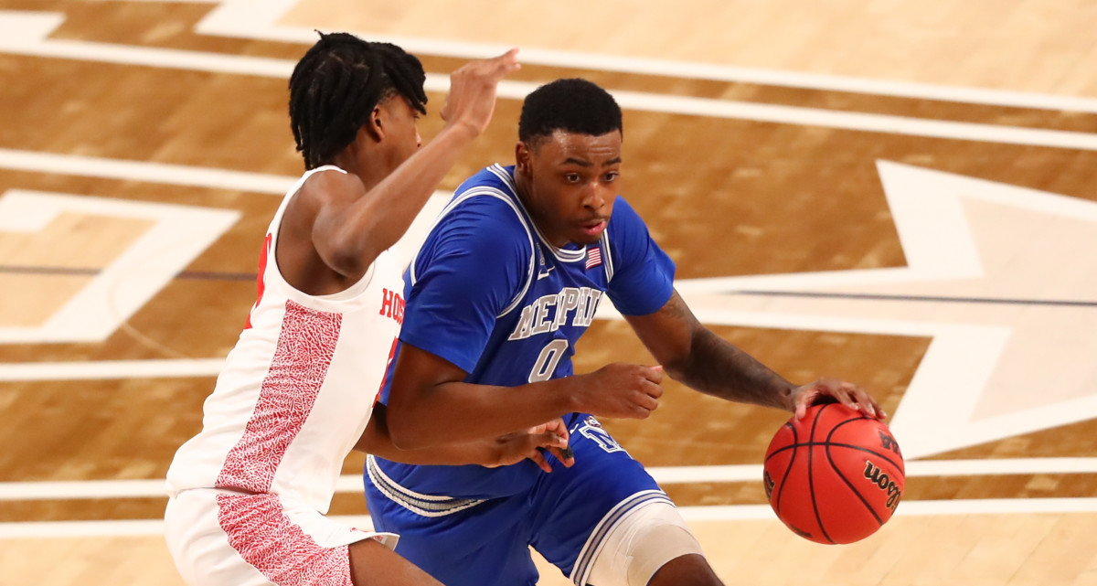 D.J. Jeffries, who previously played at Memphis, is transferring to Mississippi State. (Photo byBen Ludeman-USA Today Sports)