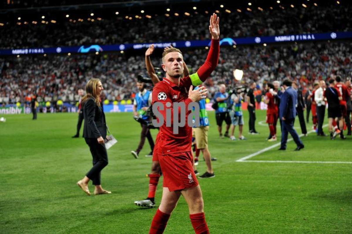 Jordan Henderson after Liverpool won the Champions League
