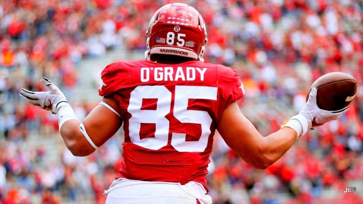 The former Arkansas Razorback tight end, CJ O'Grady, has the talent to play at the next level in the NFL.