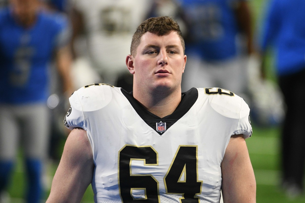 New Orleans Saints center Will Clapp (64). Mandatory Credit: Tim Fuller-USA TODAY Sports