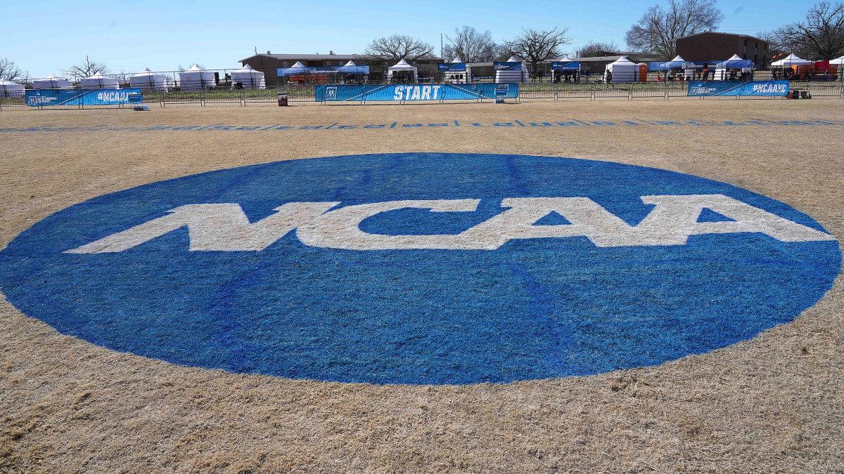 View of NCAA logo