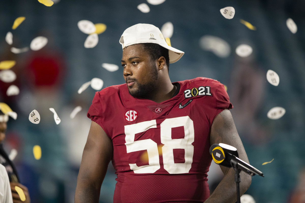 Christian Barmore is arguably the best defensive tackle in this class and should end up being a first-round pick.