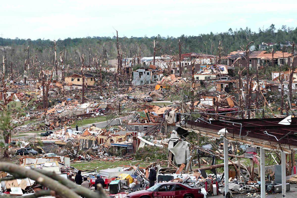 Tornado damage, April 27, 2011