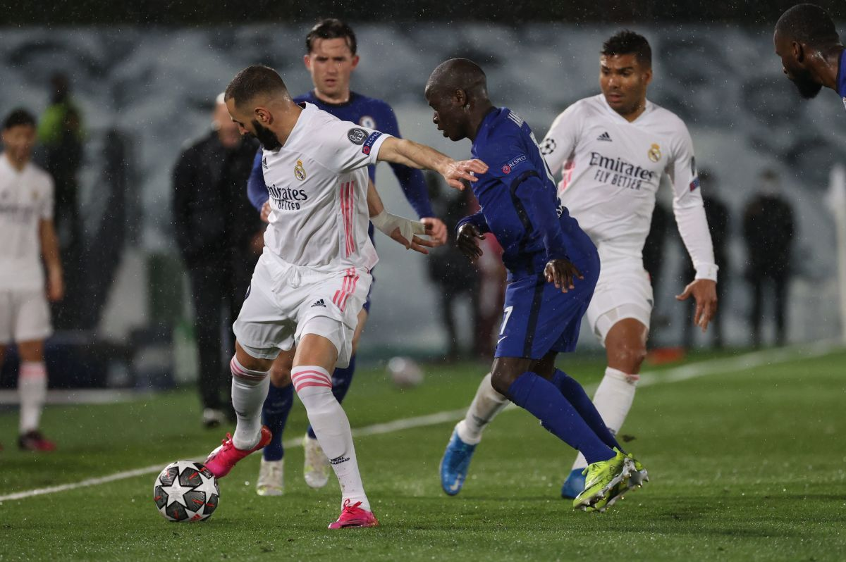 N'Golo Kante played a big role in the Blues' draw with Real Madrid.