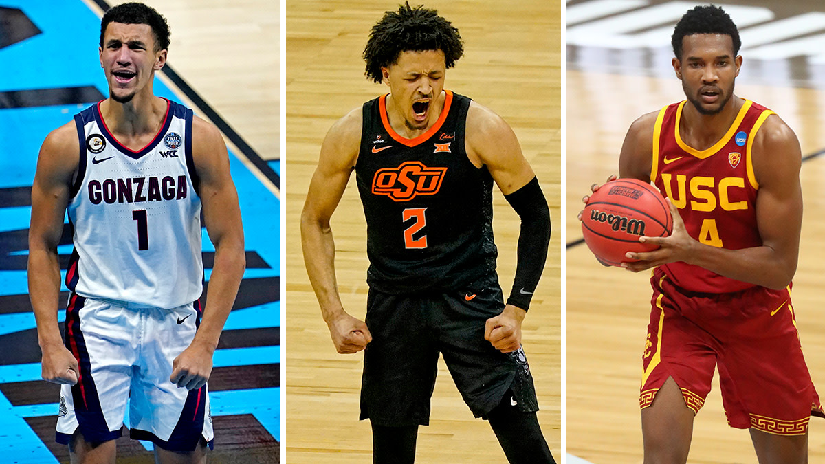 NBA draft prospects Jalen Suggs, Cade Cunningham and Evan Mobley