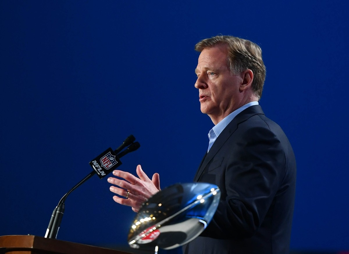 Commissioner Roger Goodell will conduct the NFL Draft on location in Cleveland this year after the coronavirus pandemic forced the event to be held virtually in 2020.