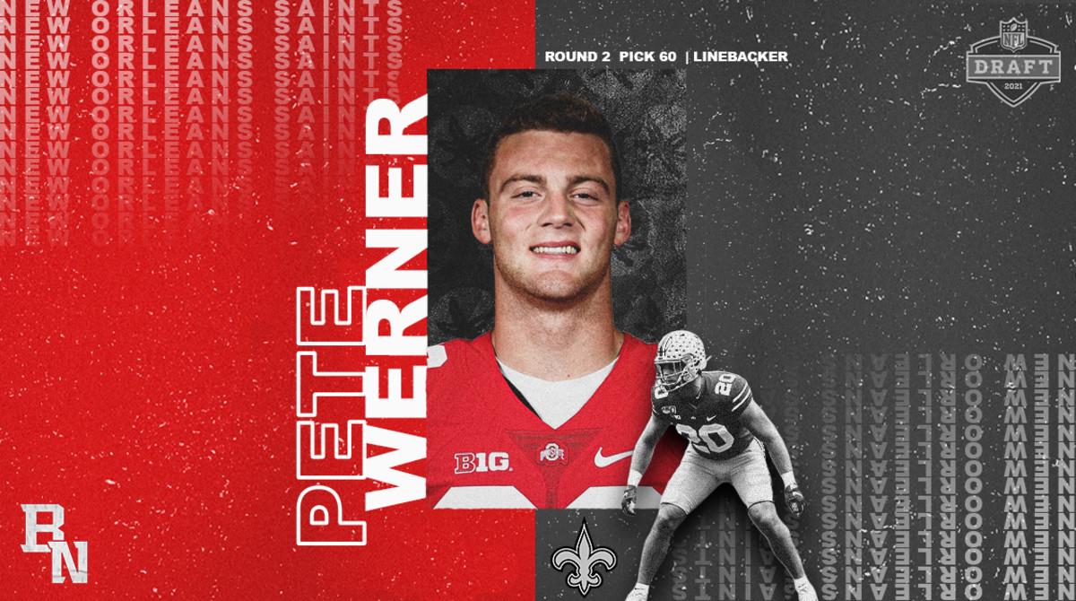 Pete Werner NFL Draft Card