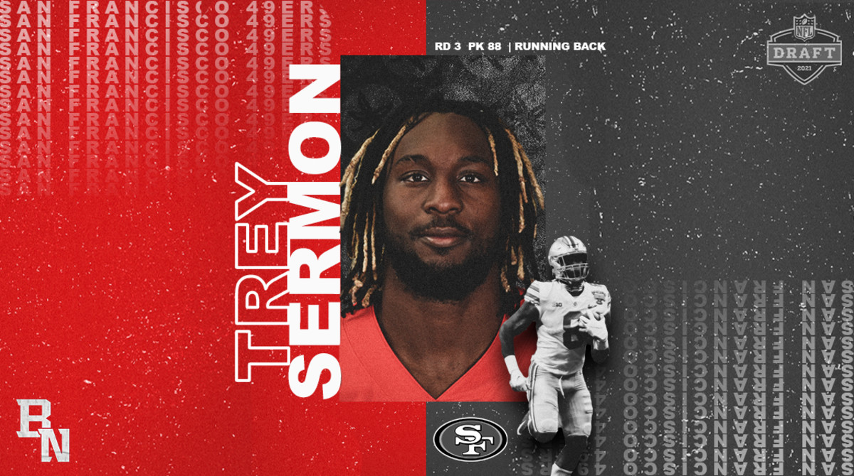 Trey Sermon NFL Draft Card