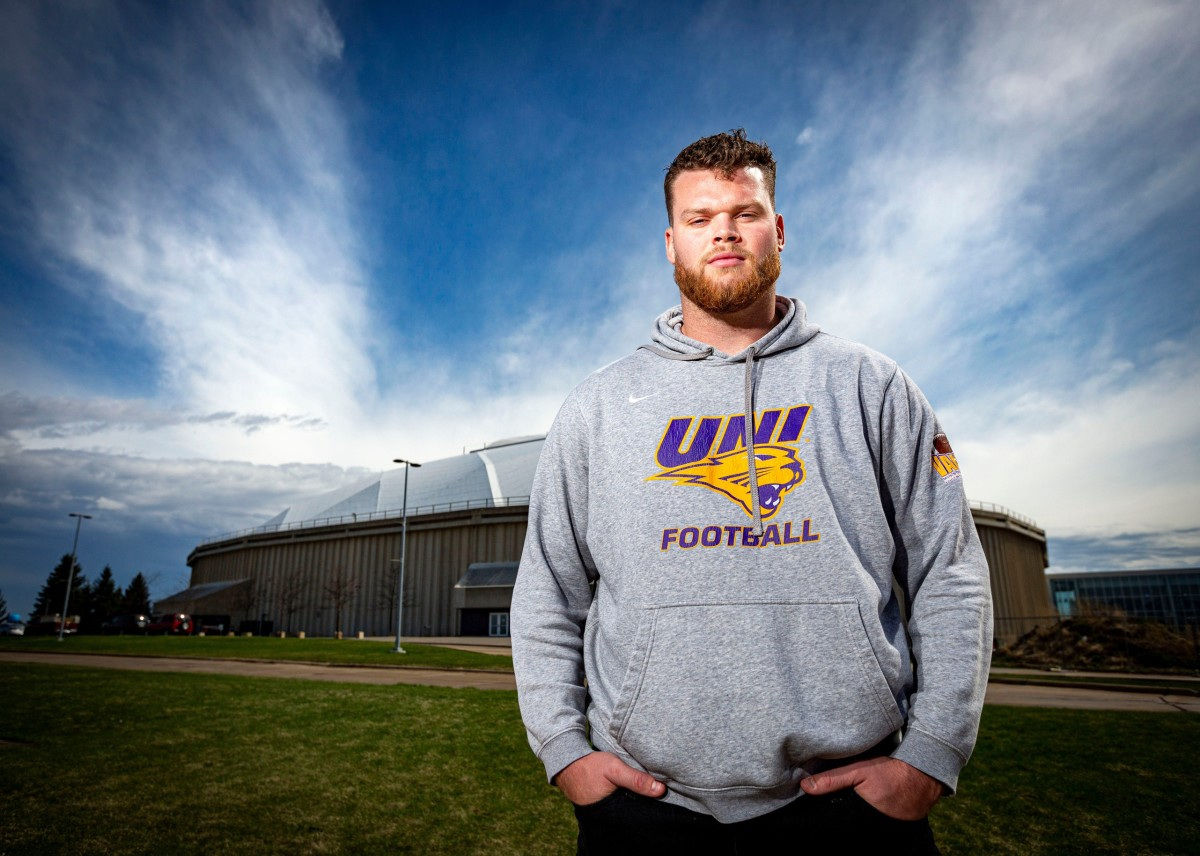 The Bills selected Northern Iowa offensive lineman Spencer Brown in the third round of the NFL Draft.