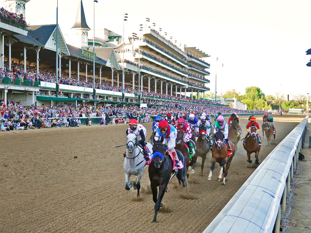 Medina Spirit pulls away in the homestretch of the 2021 Kentucky Derby.