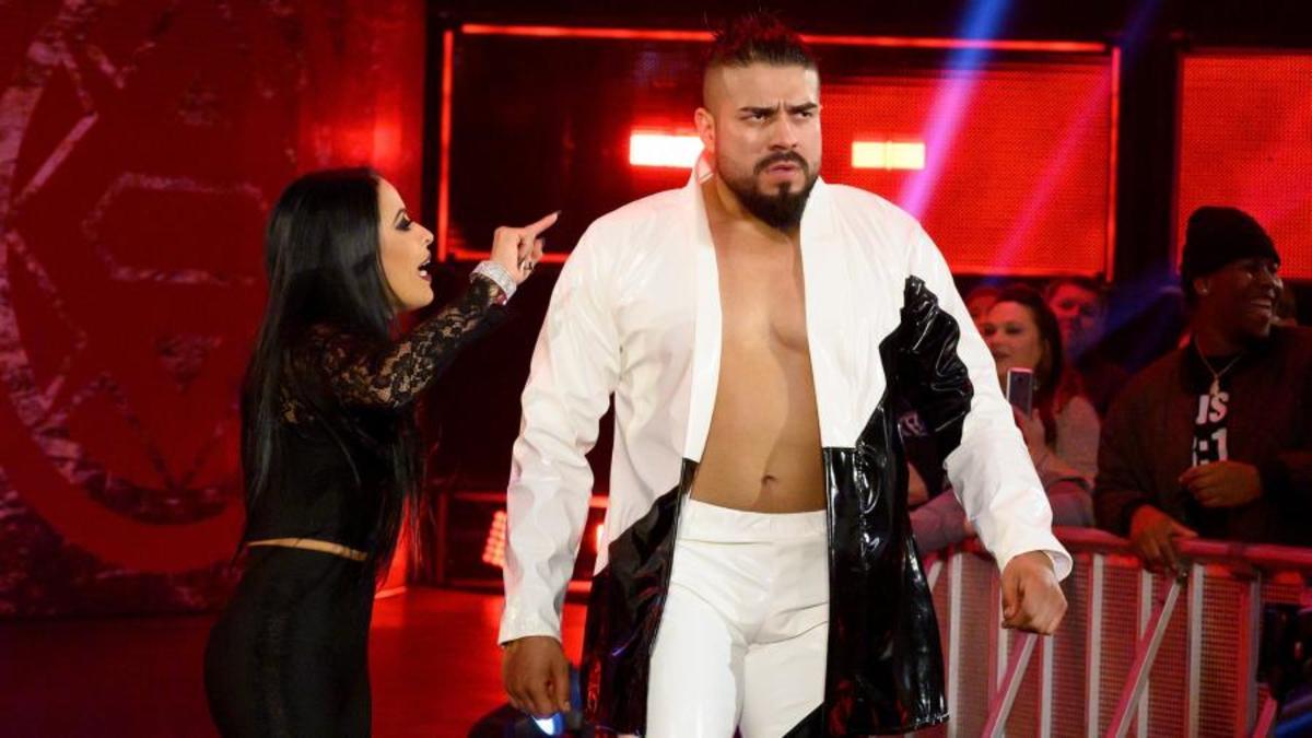 Andrade walks into a match
