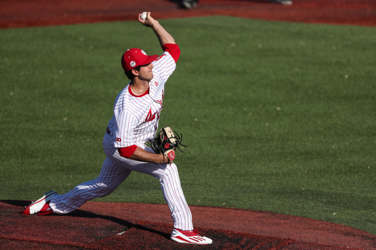 Indiana pitcher Tommy Sommer leads the Big Ten in wins and innings pitched, and the Hoosiers count in him to start series openers every Friday. (Photos courtesy of IU Athletics)