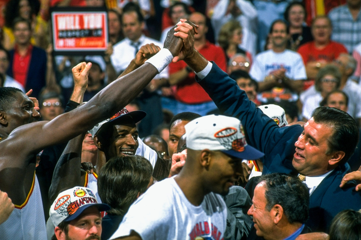 """""""It's a lifetime relationship,"""" Olajuwon says of Tomjanovich, who he spent 16 seasons with in Houston."""