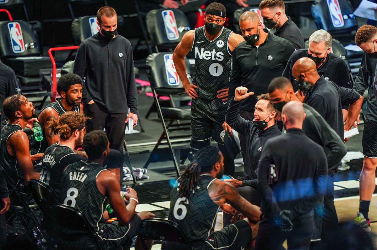 Durant left Kerr and Golden State to join up with Kyrie Irving in Brooklyn. It's up to Nash, in his first season as coach, to pull it all together.