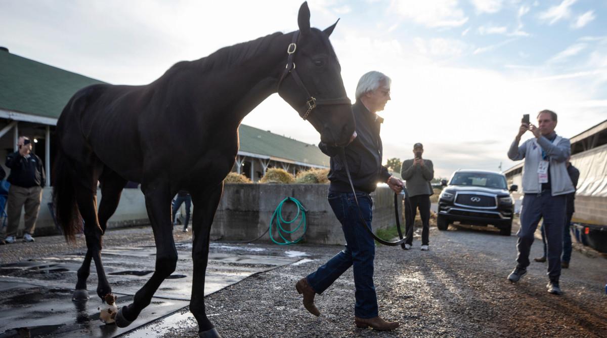 Bob Baffert and his horse Medina Spirit