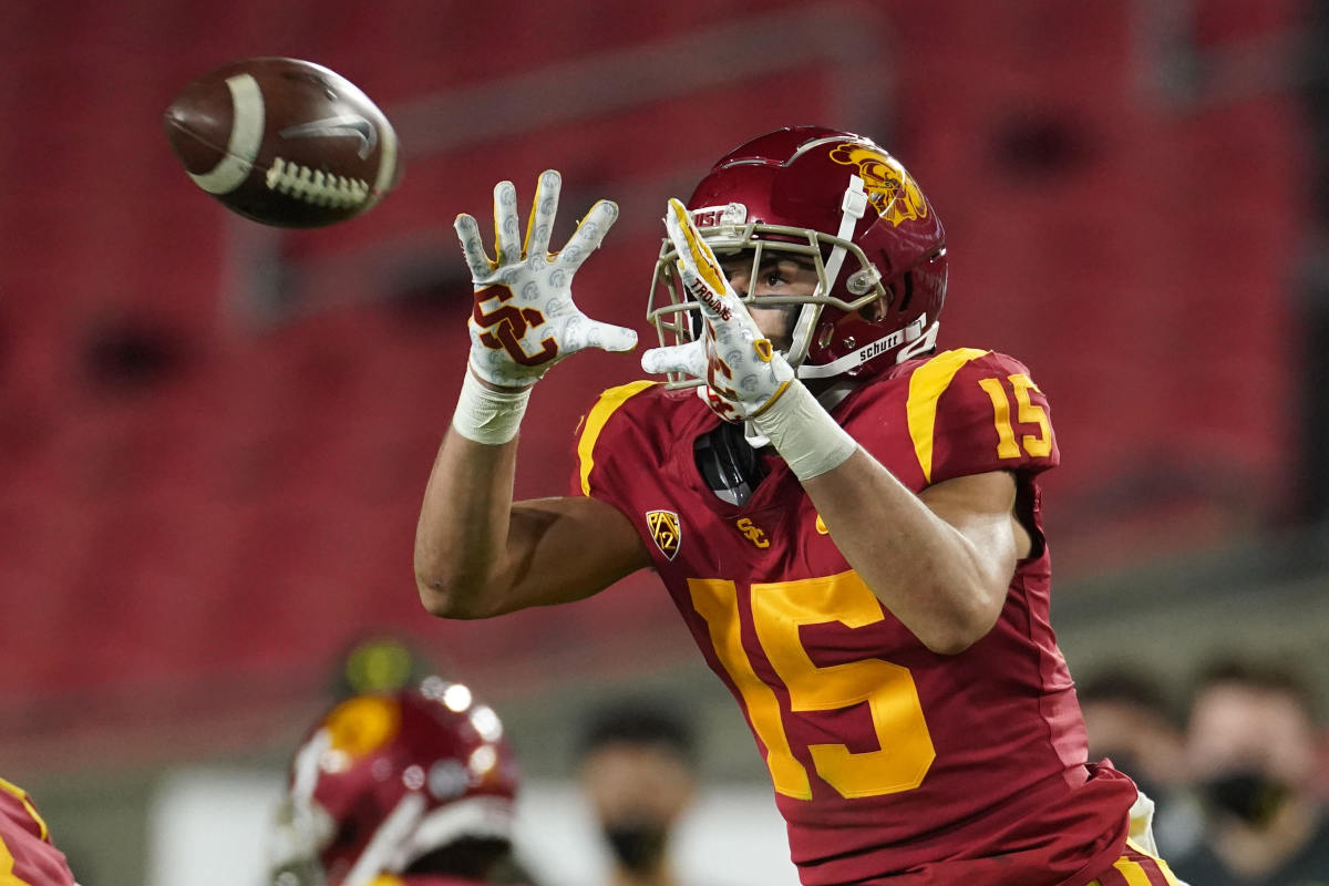 A two-sport athlete at USC, Drake London has first-round potential