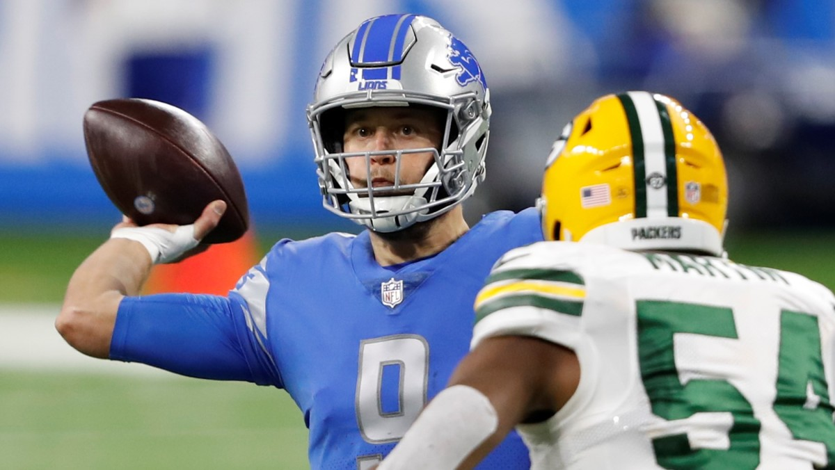 The Detroit Lions traded star quarterback Matthew Stafford to the Los Angeles Rams. (USA Today Sports Images)