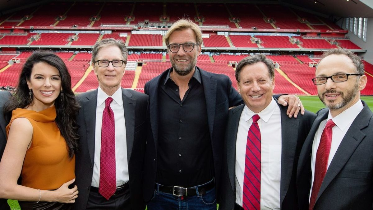 Jurgen Klopp and Fenway Sports Group owners.