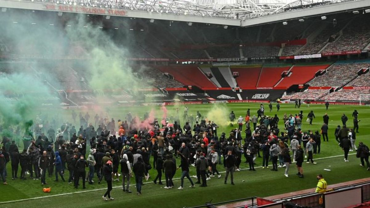 Protests at Old Trafford forced Liverpool's match with the Red Devils to be postponed.