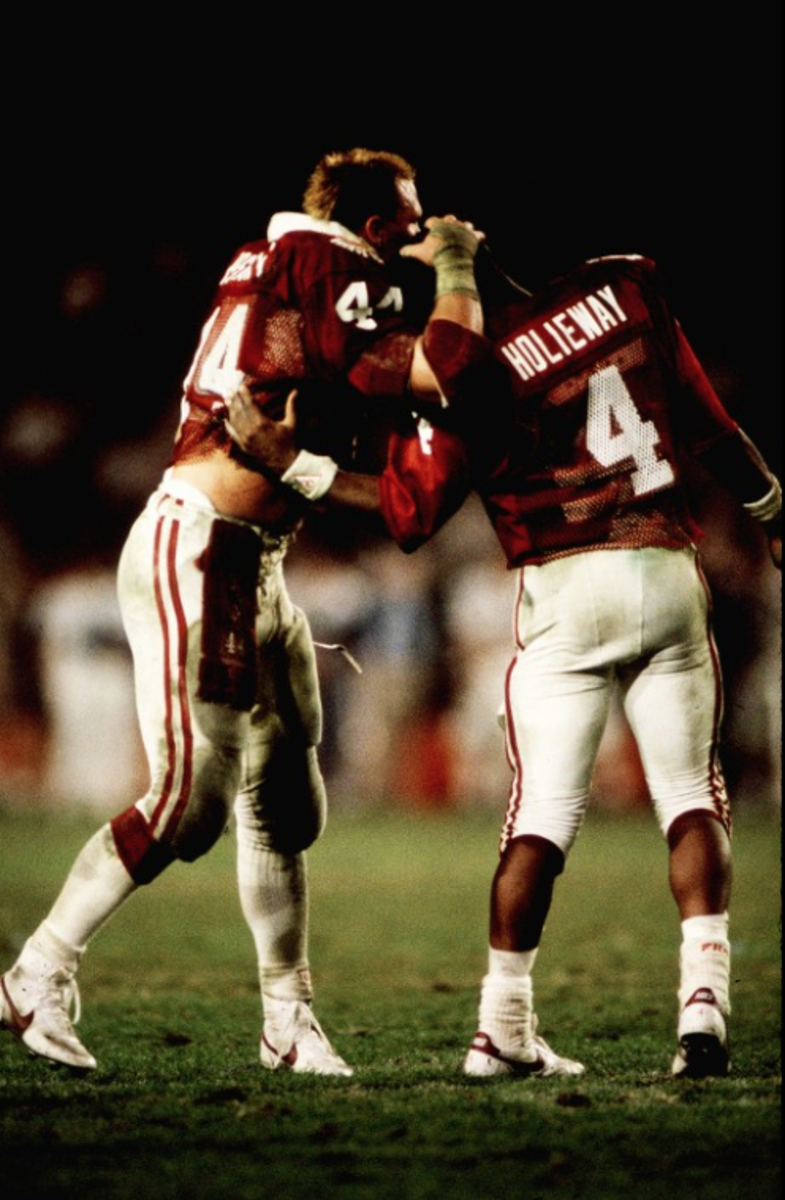 Brian Bosworth and Jamelle Holieway