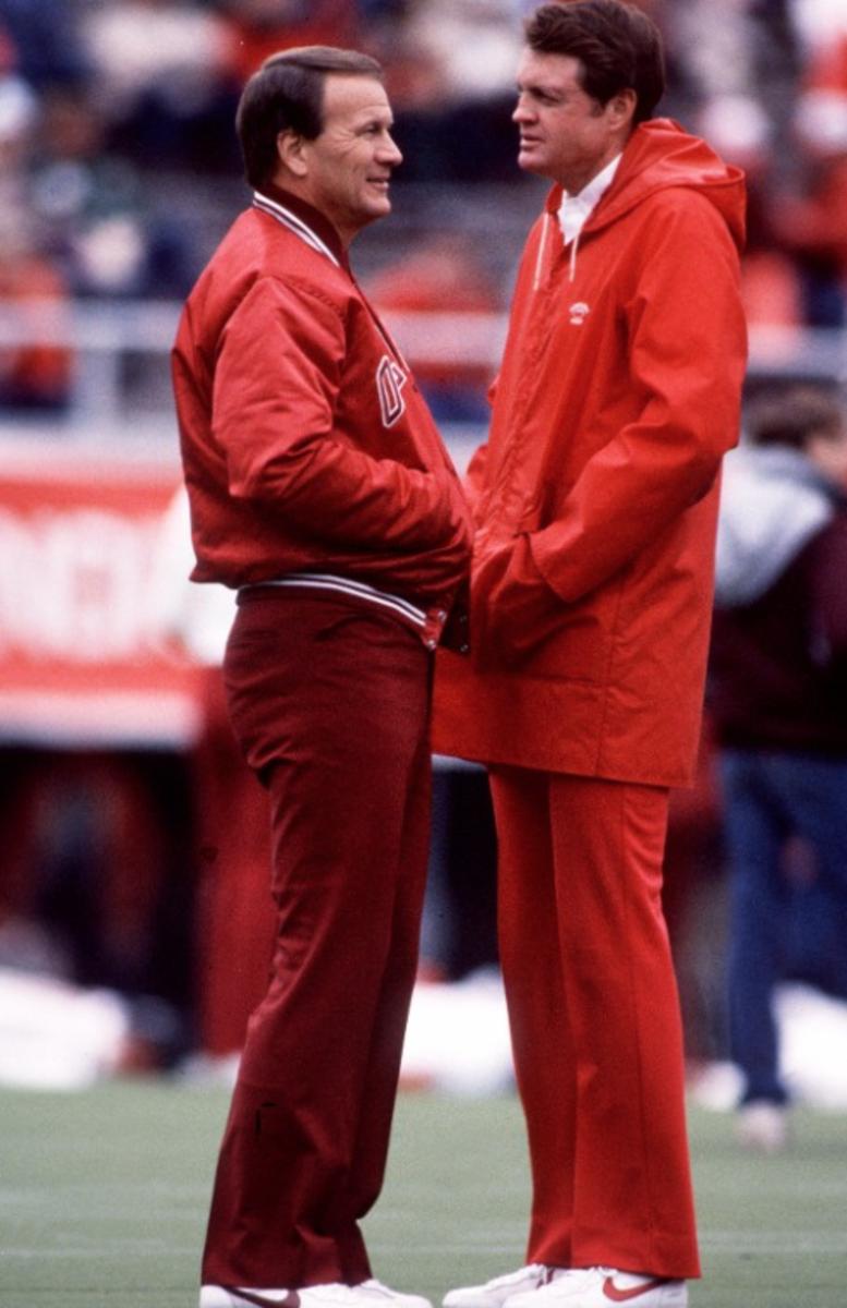 Barry Switzer and Tom Osbourne