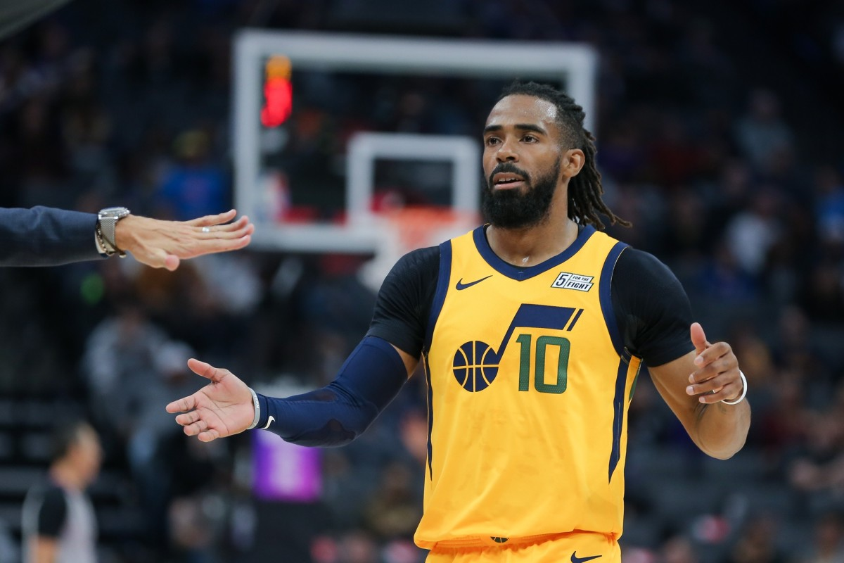 All eyes will be on Mike Conley (10) as the Jazz take on the Sacramento Kings tonight