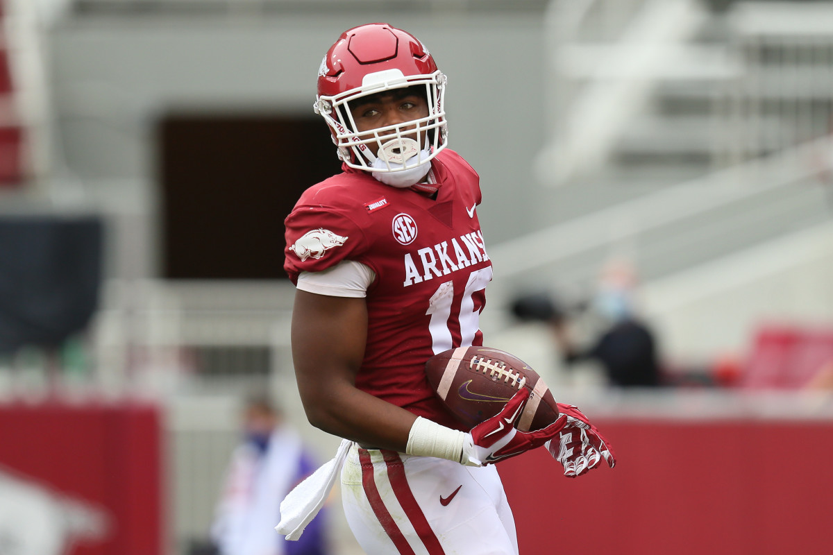Treylon Burks looks to make a name for himself as one of the better Arkansas receivers.