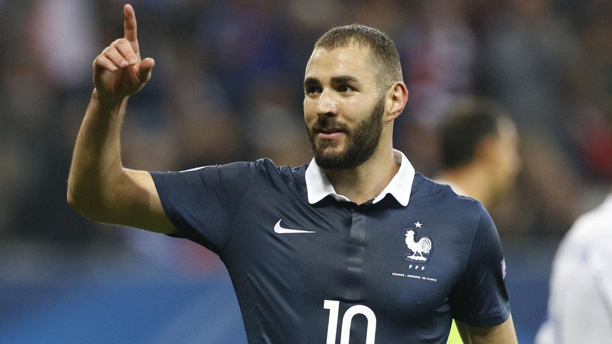Karim Benzema is back for France
