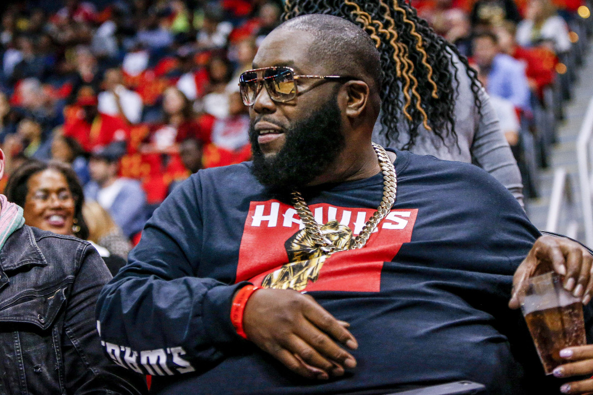 Killer Mike now runs a barbershop inside State Farm Arena where fans can watch the Hawks while getting a haircut.