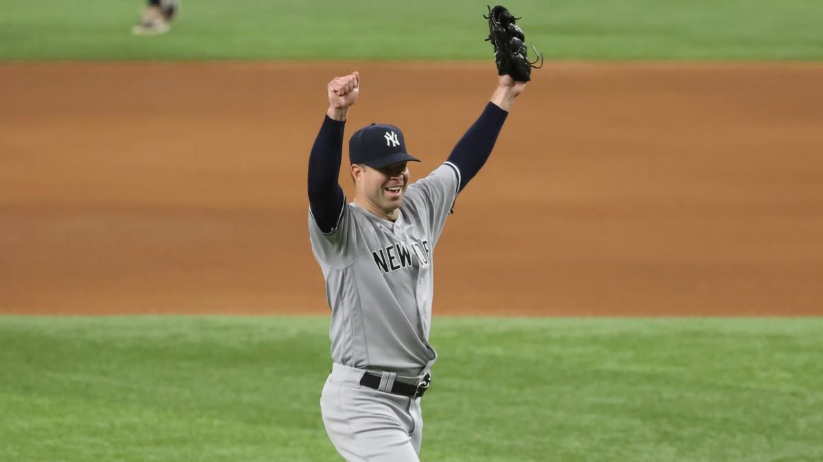 Yankees pitcher Corey Kluber