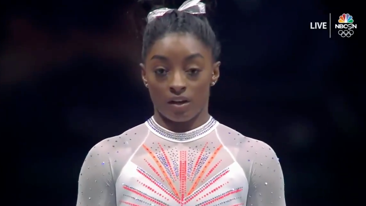 Simone Biles: Star gymnast makes history landing Yurchenko ...
