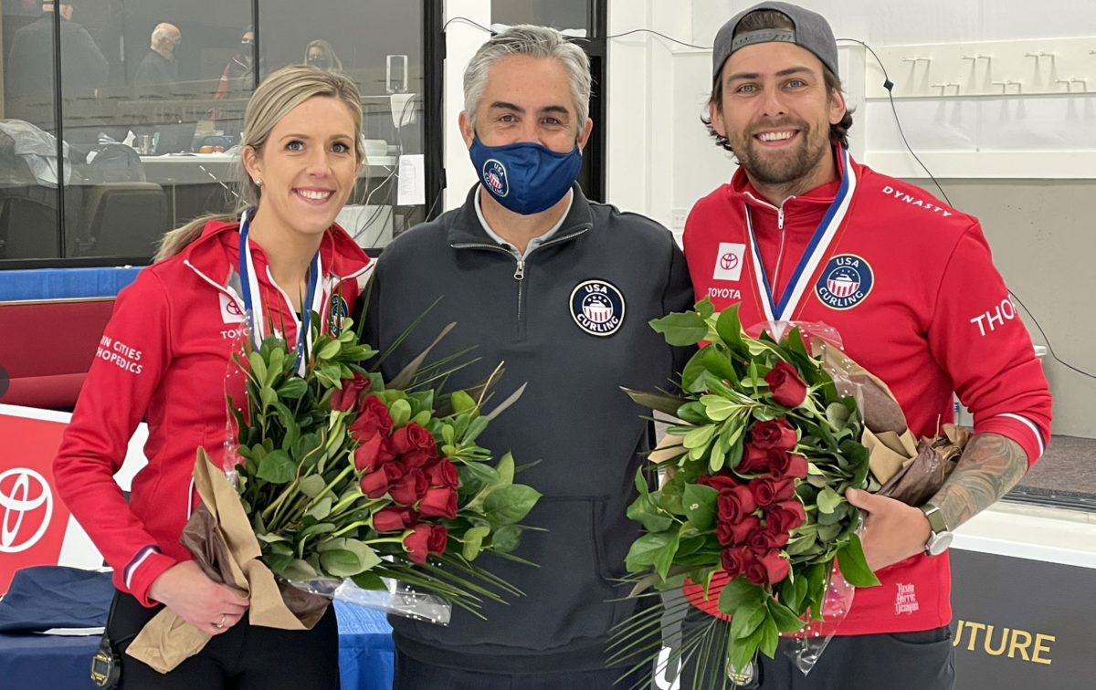 Persinger (left) and Plys (right) • USA Curling