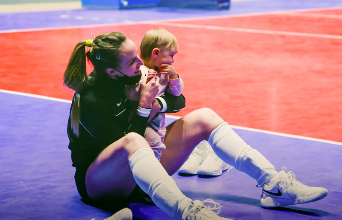 Katie Carter with daughter Noelia.