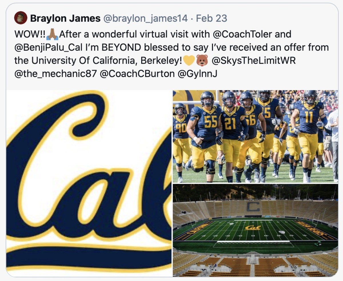 Cal offer came in February
