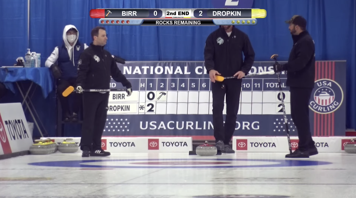 Curling cameras need to aim higher when Allen is in action
