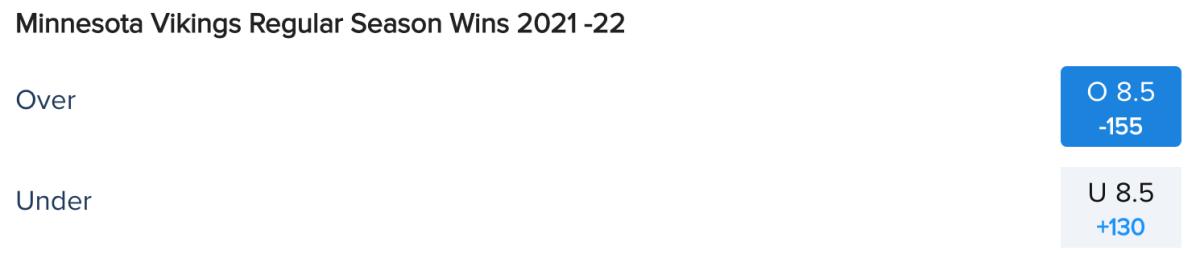 Minnesota Vikings Win Total Odds via FanDuel Sportsbook
