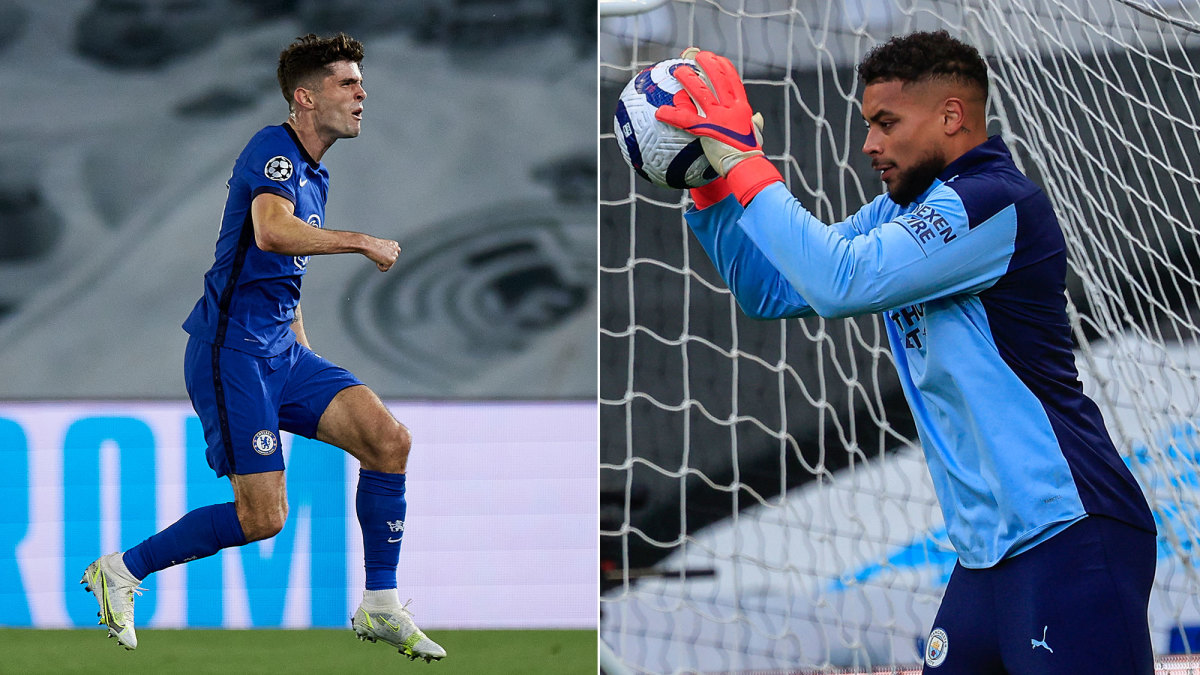 USA's Christian Pulisic and Zack Steffen have reached the Champions League final
