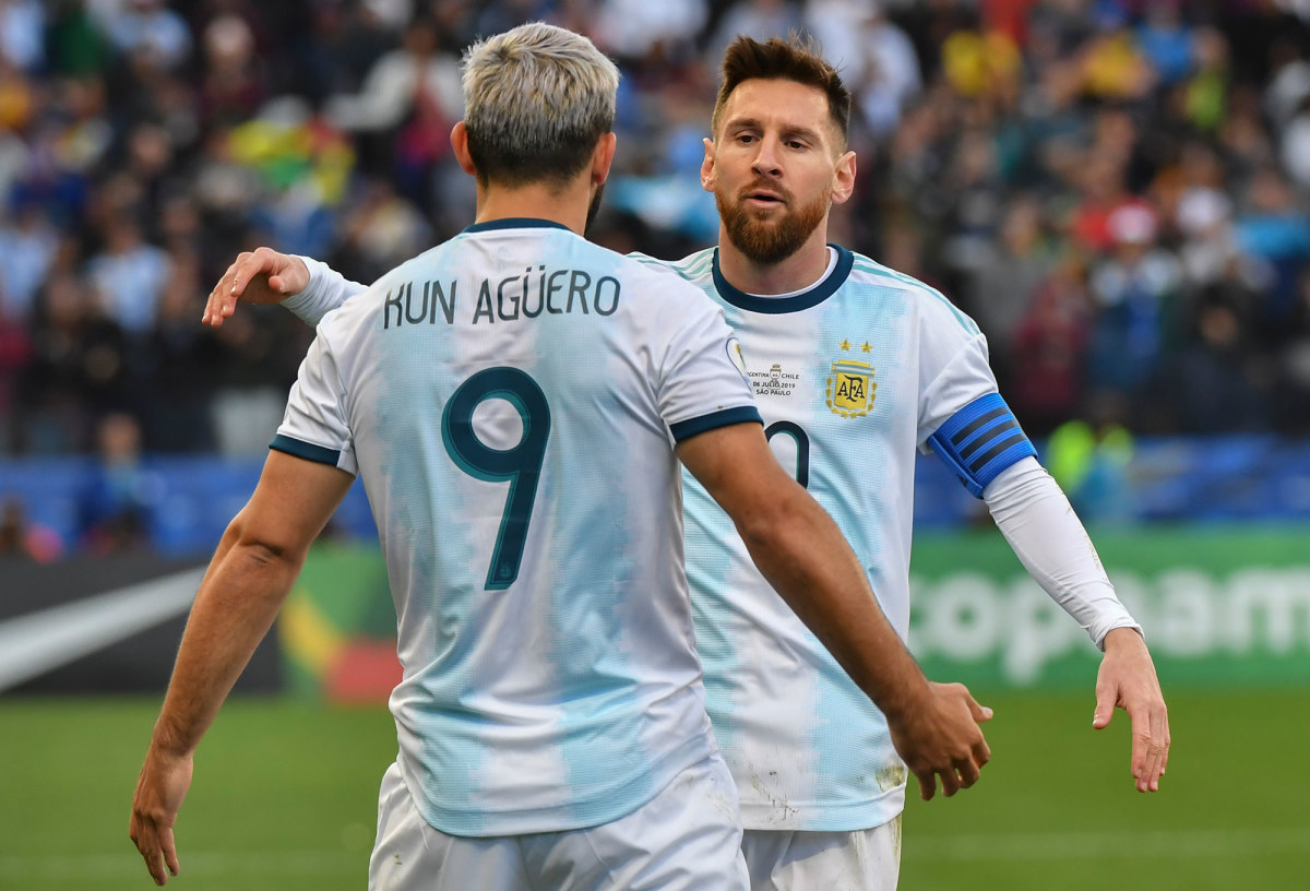 Sergio Aguero and Lionel Messi teaming for Argentina