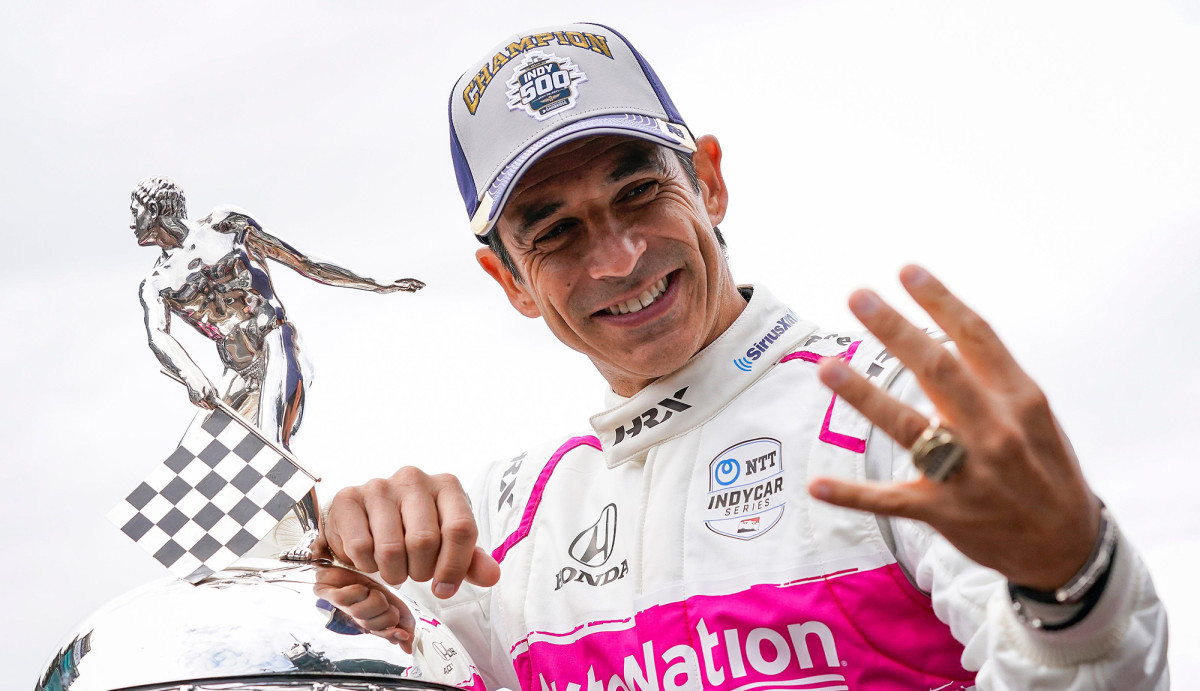 Castroneves's fourth win came 20 years after his first.