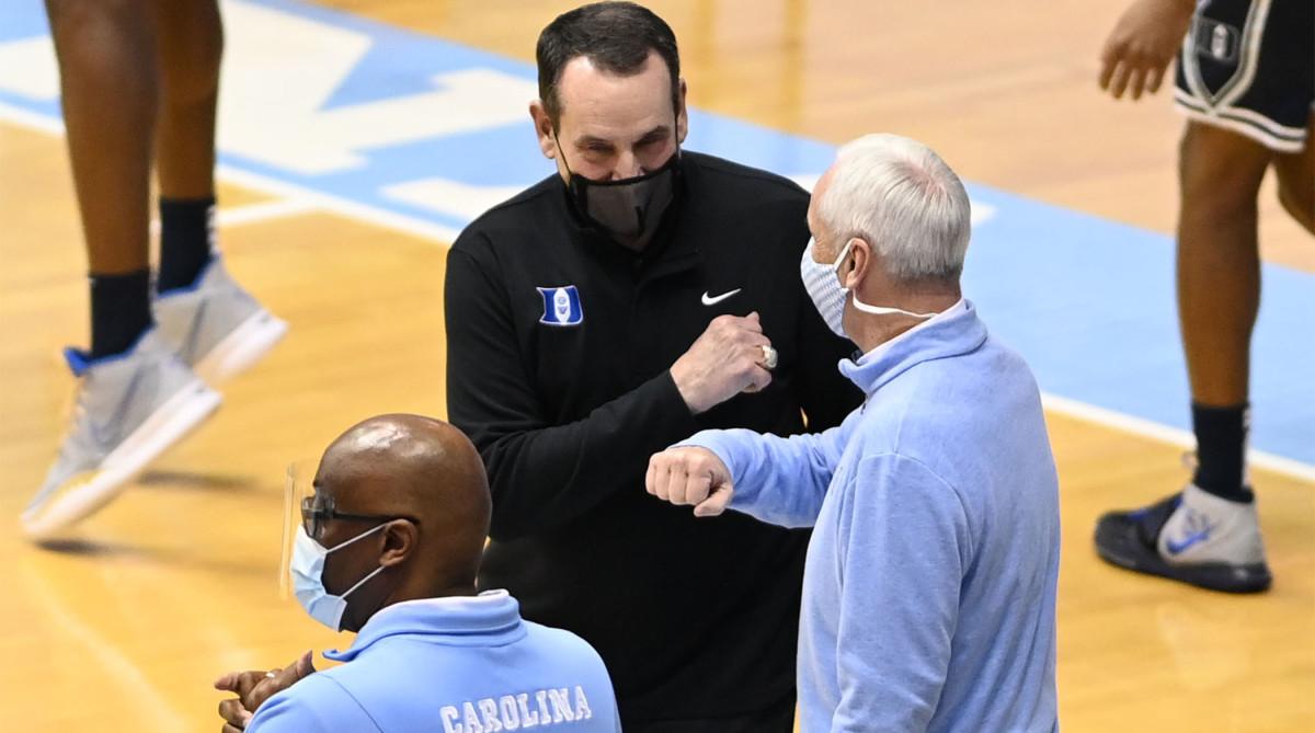 Duke Blue Devils men's basketball coach Mike Krzyzewski