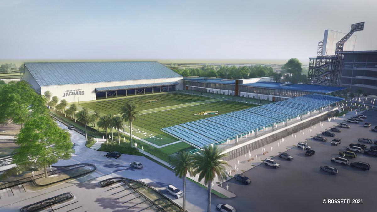 Renderings of the practice field proposal via the Jaguars.