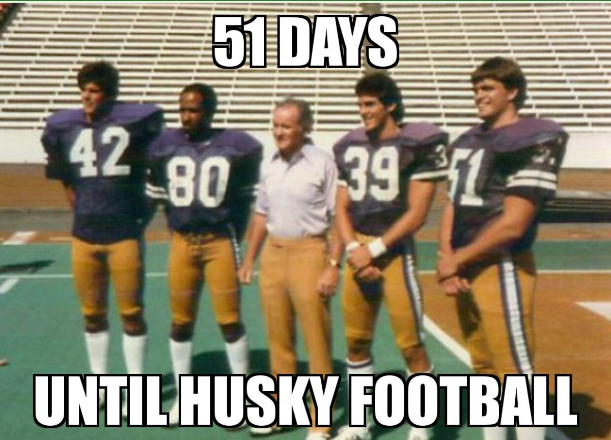 Don James and his 1984 captains Tim Meamber, Danny Green, Jimmy Rodgers and Dan Eernissee.
