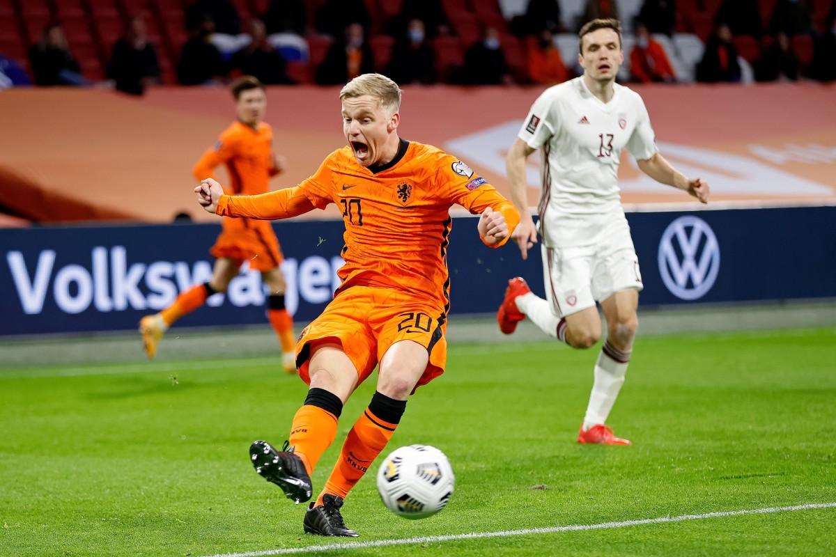 Donny van de Beek Netherlands v Latvia