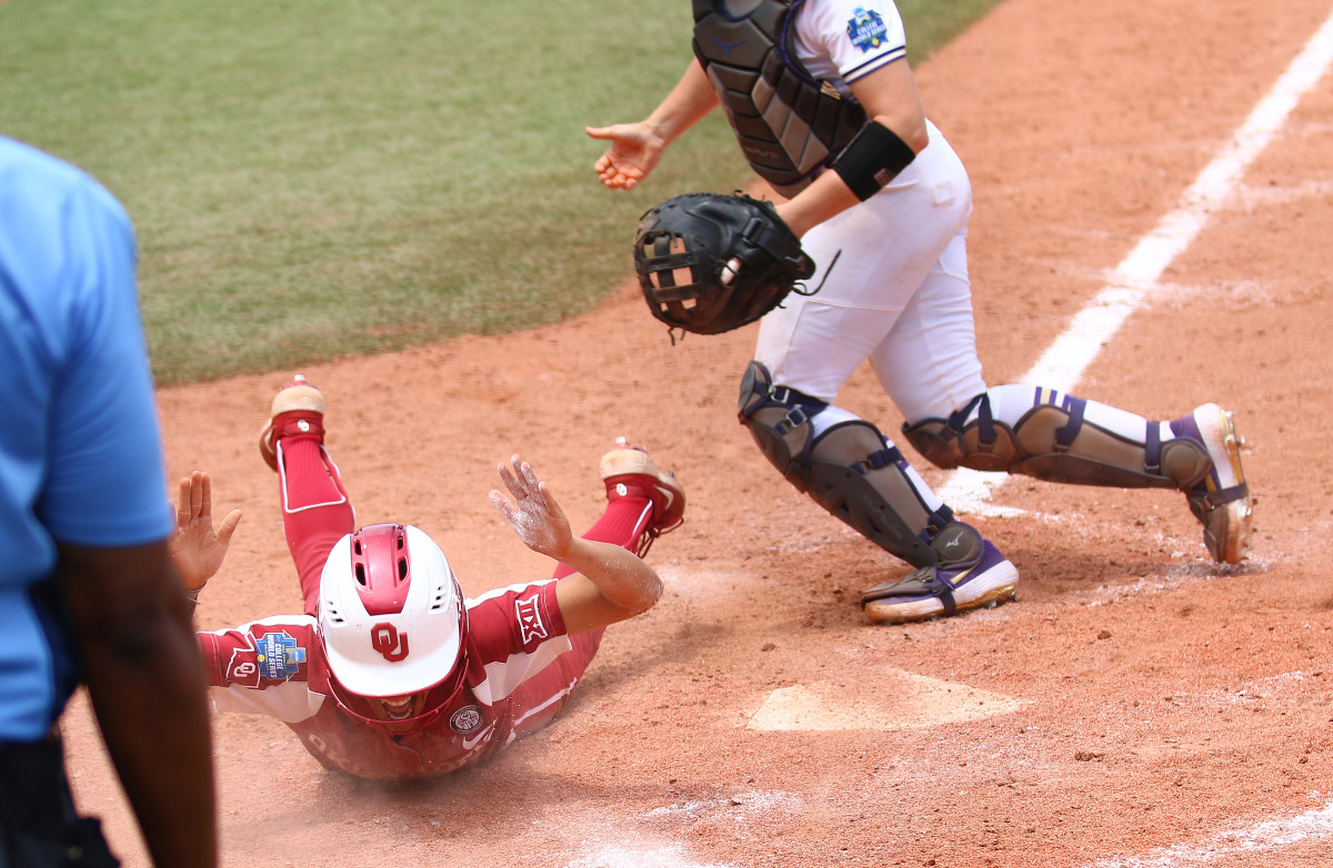Rylie Boone slides in with the go-ahead run