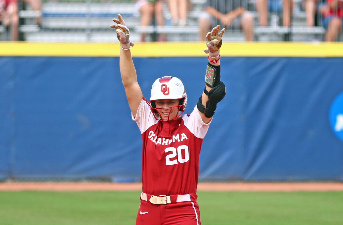 Jana Johns gave Oklahoma their first lead of the game, and the Sooners never turned back