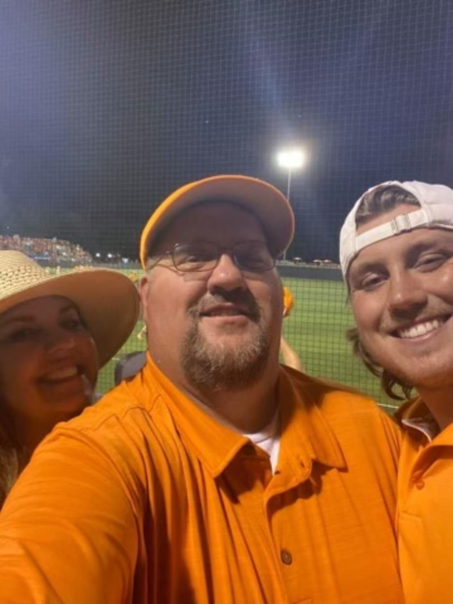 The Waters family at Tennessee's Regional final against Liberty on Sunday. (Andrew Waters/Submitted)